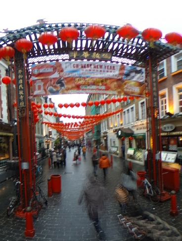 A still image of Chinatown from a 360in360 story about London
